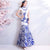Dragons Pattern Mandarin Collar Mermaid Cheongsam Chinese Style Wedding Dress