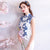 Floral Embroidery Cheongsam Top Full Length Mermaid Evening Dress
