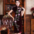 Key Hole Neck Cap Sleeve Velvet Cheongsam Chinese Dress with Floral Appliques
