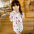 Long Sleeve 100% Cotton Floral Kid's Cheongsam Dress