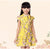 Knee Length Cap Sleeve Floral Girl's Cheongsam Chinese Dress