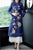 Floral Emboidery Tea Length Chinese Style Mother's Wind Coat