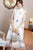 Illusion Sleeve Butterfly & Floral Embroidery Cheongsam Han Costume