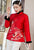 Dragon Embroidery Retro Chinese Style Brocade Wadded Coat Comfort Fit