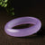 Genuine Lilac Agate Bangle Bracelet