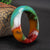 Tang Tri-color Women's Jade Bangle Bracelet
