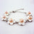 Plum Blossom Shape Genuine Fresh Water Pearls Bracelet
