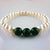 Genuine Fresh Water Pearls & Jade Beads Bracelet