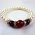Genuine Fresh Water Pearls & Red Agate Beads Bracelet