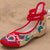 Traditional Chinese Floral Embroidery Wedge Heel Shoes