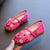 Traditional Girls' Chinese Floral Embroidery Shoes Dancing Shoes