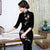 3/4 Sleeve Floral Sequins Thick Velvet Cheongsam Evening Dress