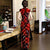 Cap Sleeve Full Length Velvet Cheongsam Qipao Dress