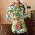 3/4 Sleeve Floral Signature Cotton Chinese Shirt