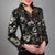 Stand Collar V Neck Floral Brocade Silk Chinese Style Jacket