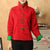 Stand Collar Cotton Chinese Coat with Strap Buttons