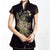 Illusion Cap Sleeve Phoenix Appliques Elastic Yarn Chinese Shirt