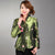 Stand Collar V Neck Floral Embroidery Chinese Style Women's Jacket
