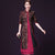 Round Neck Dress with Cheongsam Top Coat 2 Piece Suit