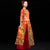 Phoenix Embroidery Pleated Skirt Retro Chinese Wedding Suit