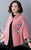 Floral Embroidery Imitated Mink Wool Shawl Loose Cape Jacket