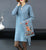 Floral Embroidery Chinese Style Knit Dress & Coat Two-piece Suit
