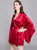 Wide Sleeve V Neck Silk Loungewear Nightwear Pajamas with Tassels