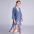 Crane Pattern Velvet Sleepwear Pyjamas Slip Dress Suit
