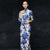 Retro Foloral Fancy Cotton Full Length Cheongsam Chinese Dress