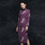 Long Sleeve Floral Embroidery Thick Woolen Cheongsam Chinese Dress