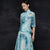Half Sleeve Cheongsam Top Ball Gown Skirt Chinese Style Floral Sun Dress