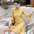 Mandarin Sleeve Knee Length Bodycon Chinese Dress