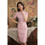 Short Sleeve Knee Length Cheongsam Bodycon Floral Chinese Dress