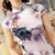 Cap Sleeve Modern Cheongsam Floral Silk Chinese Dress