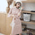 Puff Sleeve Woolen Cheongsam Chinese Style Plaids Dress