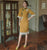 Trumpet Sleeve Modern Cheongsam Day Dress with Floral Lace Edge