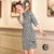 Plaids & Checks Pattern Velvet Modern Cheongsam Chic Mini Dress