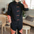 Long Sleeve Colorblock Signature Cotton Chinese Shirt