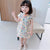 Cap Sleeve Mandarin Collar Floral Cotton Kid's Cheongsam Dress