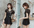 Lace Neck Cheongsam Style 3-pieces Swimsuit