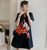 Lion Dance Pattern Plus Size Mini Modern Cheongsam Dress