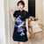 Short Sleeve Mandarin Collar Plus Size Modern Cheongsam Dress