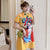 Peking Opera Print Mandarin Collar Plus Size Modern Cheongsam Dress
