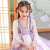 Trumpet Sleeve Floral Embroidery Girl's Han Chinese Costume Princess Dress