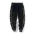 Chinese Words Embroidery Men's Velvet Sports Pants