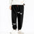 Crane Embroidery Polar Fleece Chinese Style Unisex Casual Pants