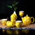 Dragon Paint Porcelain Kung Fu Tea Set Cups & Teapot 7 Pieces