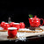 Floral Paint Porcelain Kung Fu Tea Set Cups & Teapot 7 Pieces