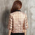 Half Sleeve Open Front Brocade Chinese Style Jacket