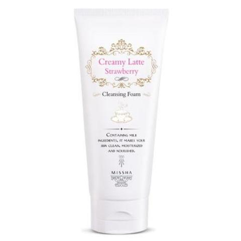 Missha Creamy Strawberry Latte Cleansing Foam - 24kart